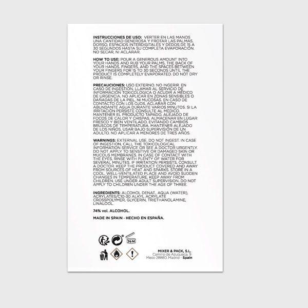 Pack gel hidroalcoholico de manos instrucciones e ingredientes